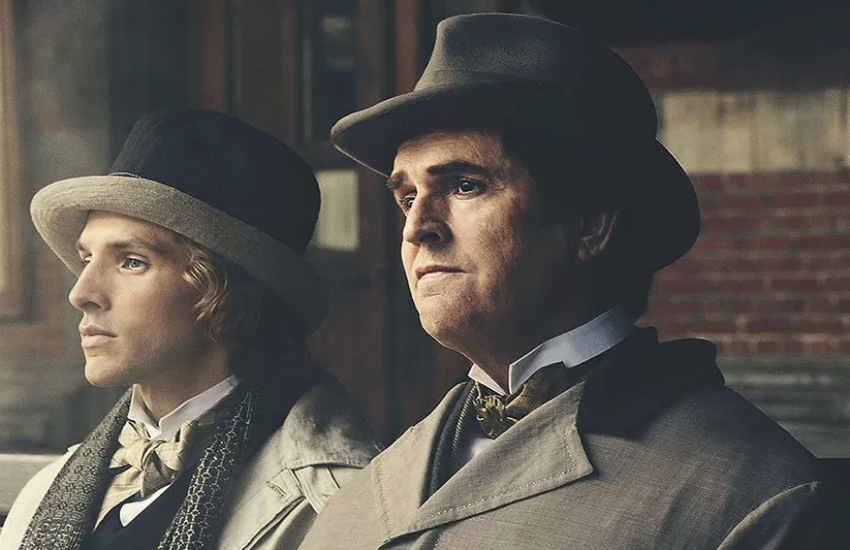 Rupert Everett (r) stars as Oscar Wilde
