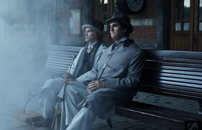 Colin Morgan and Rupert Everett as Douglas and Wilde in The Happy Prince