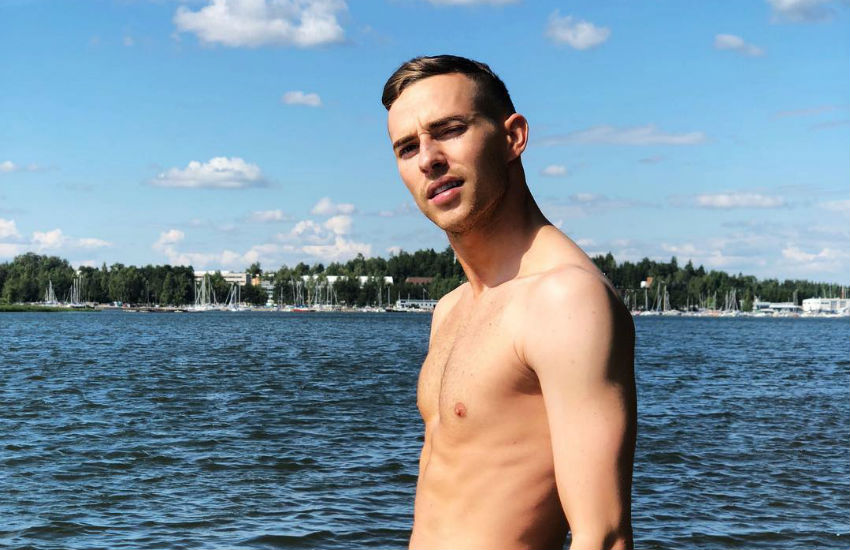 Adam Rippon shares his sexy holiday snap in Finland