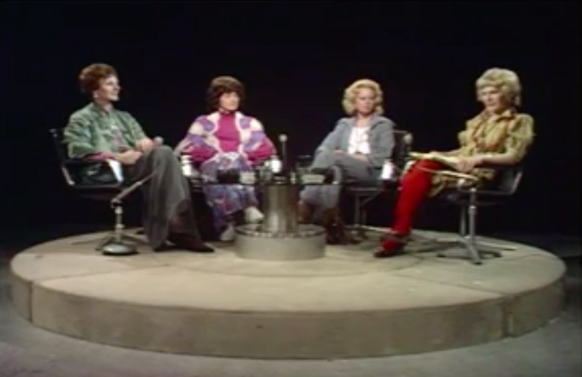 Four transgender women discussing their lives on the BBC in 1973