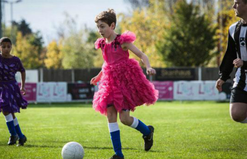 This boy who loves wearing a dress was traumatized by his grandma