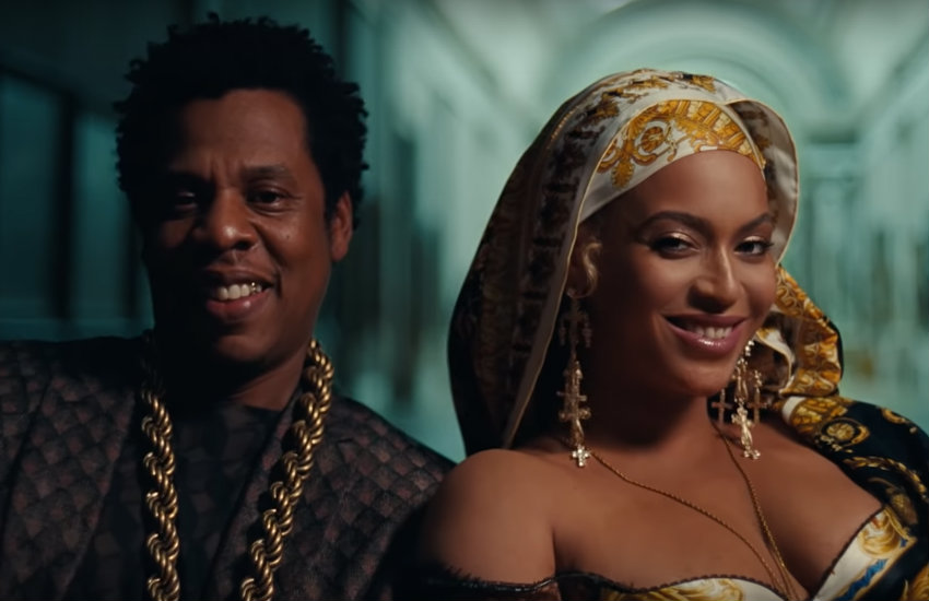 Beyoncé and Jay-Z in their VMA nominated video