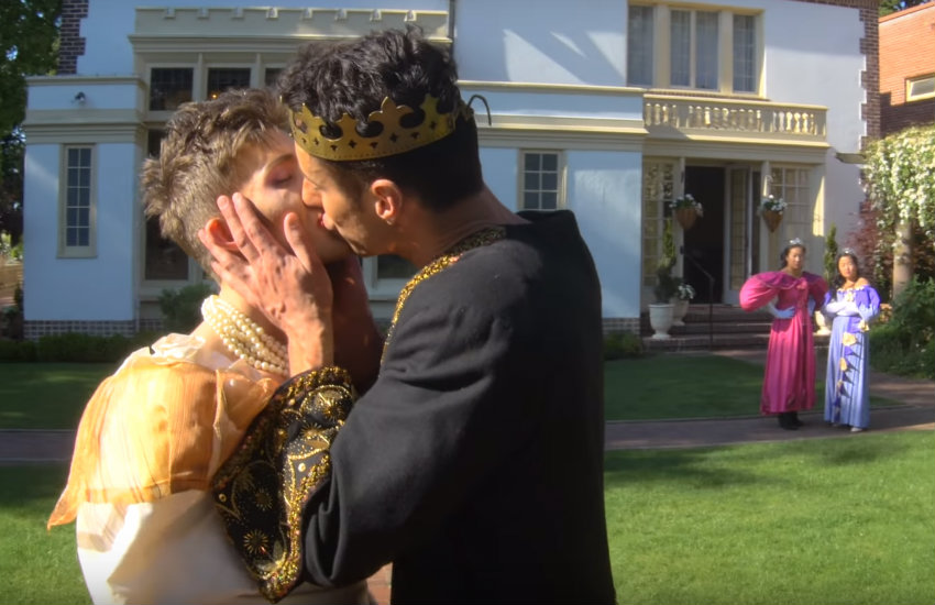 Cinderella and his prince in the video