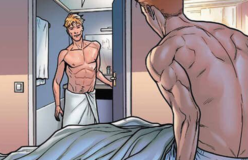 Iceman has his first one night stand in the comics