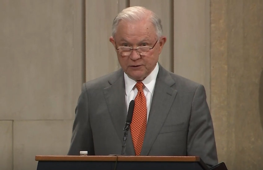 Jeff Sessions announcing the new religious liberty task force