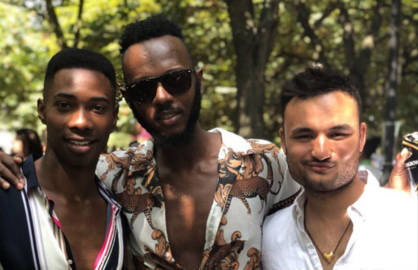 Lewis Oakley at UK Black Pride | Photo: @lewyoaks / Twitter