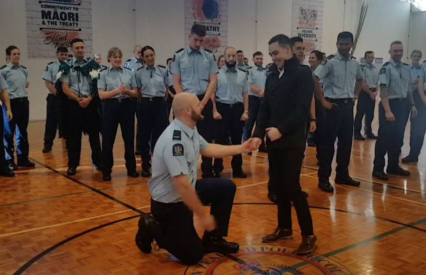 New Zealand cop proposes to boyfriend at police graduation ceremony