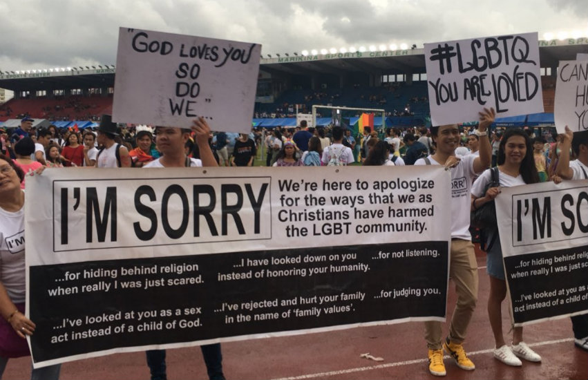 Christian marchers in the Philippines