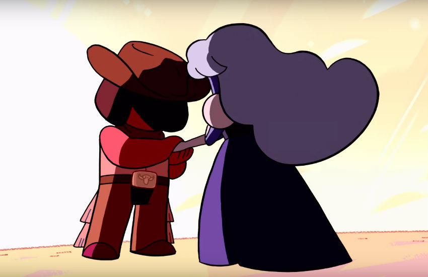 Ruby and Sapphire in Steven Universe