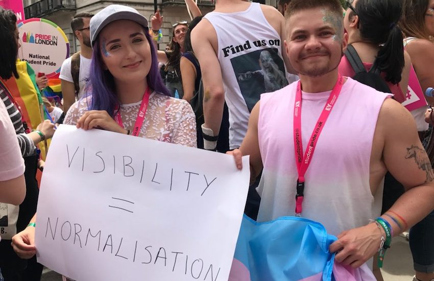 National Student Pride walk in the Pride in London Parade 2017 | Photo: Gay Star News / Jamie Wareham