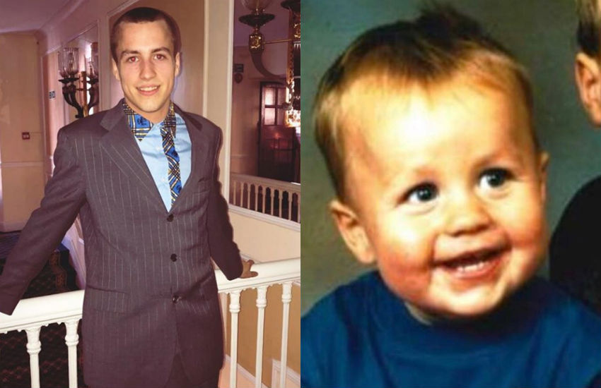 Brett Service now and as a baby - he was raised in the UK care system