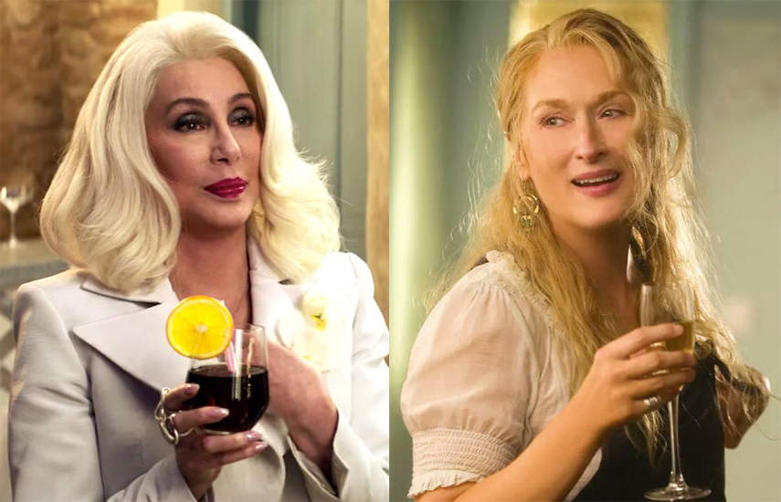 Cher and Meryl in the Mamma Mia! films