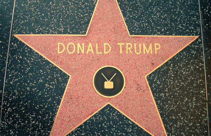 Donald Trump's star on the Walk of Fame.