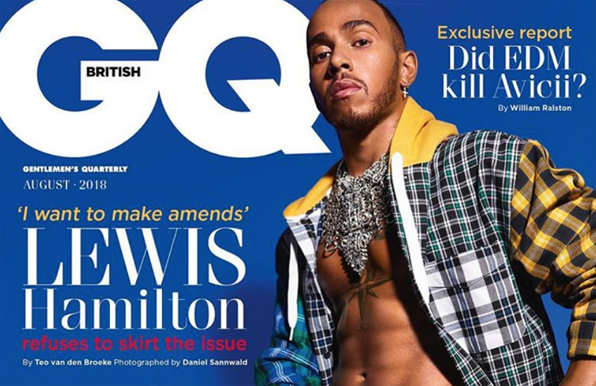 The new cover of British GQ