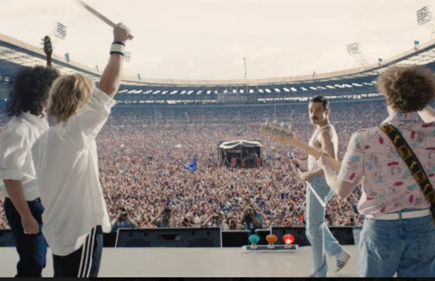 Queen onstage in Bohemian Rhapsody (Photo: 20th Century Fox)
