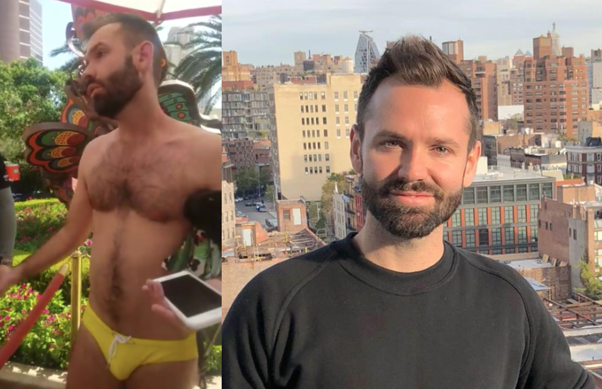 Chris Donohoe was kicked out of a Las Vegas pool party for his choice of swimwear