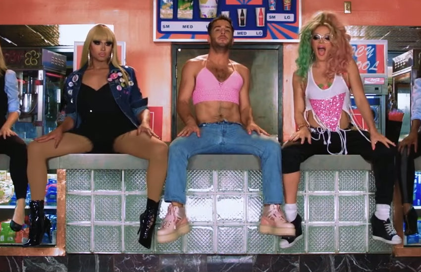 John Duff and Willam in the video