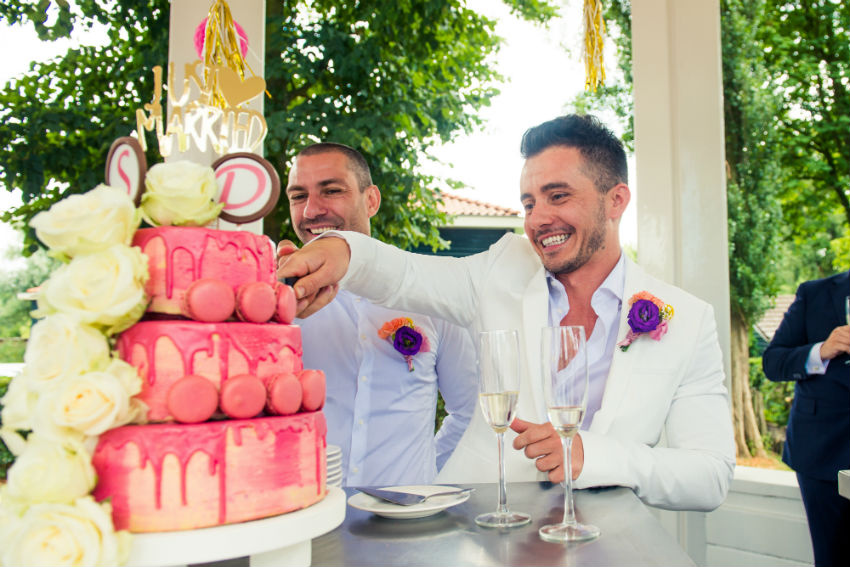 Same-sex couples from homophobic countries get married in Amsterdam