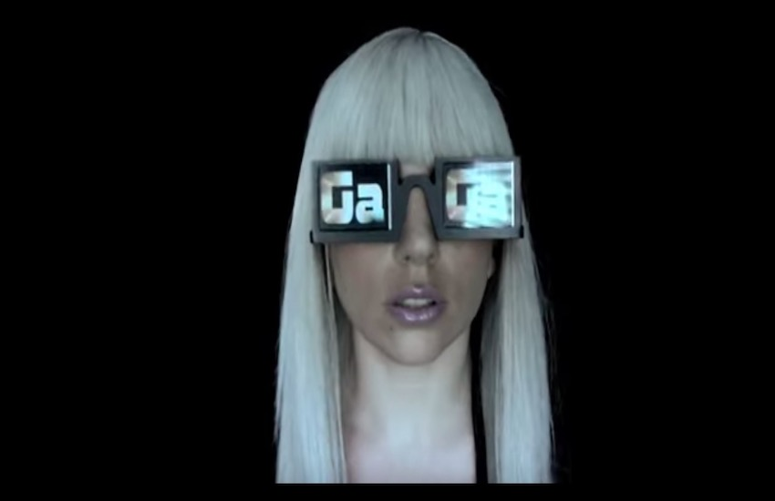A still from Lady Gaga's The Fame: Part One music video