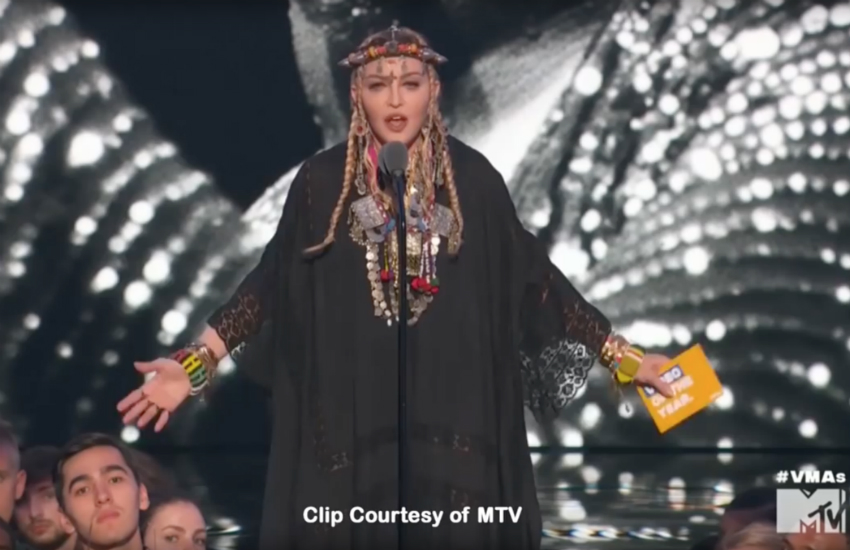 Madonna's tribute to Franklin