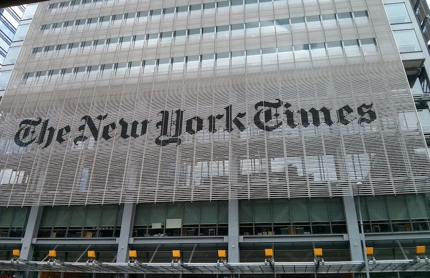 A NYT journalist had her article censored in Qatar