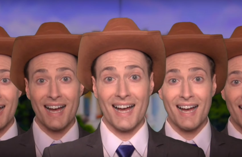 Randy Rainbow in his Omarosa parody