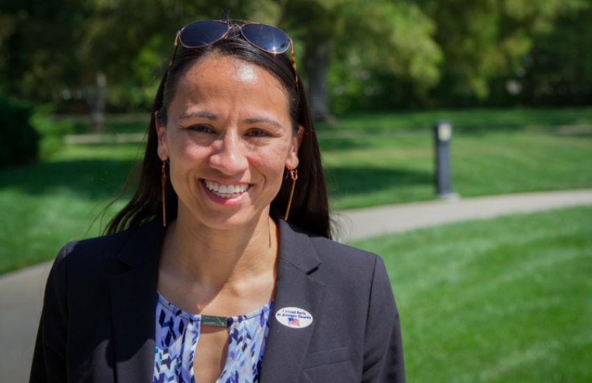 Sharice Davids is an LGBTI candidate running for office