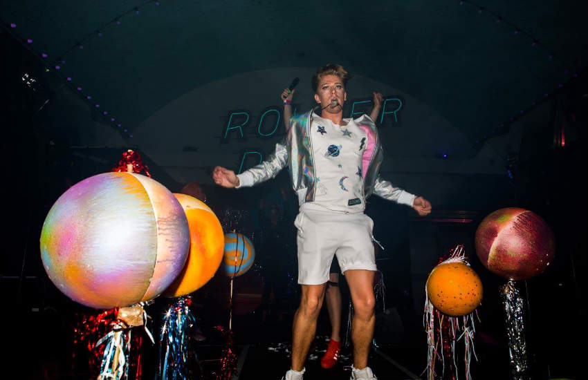 Daniel Holland at a Roller disco event.