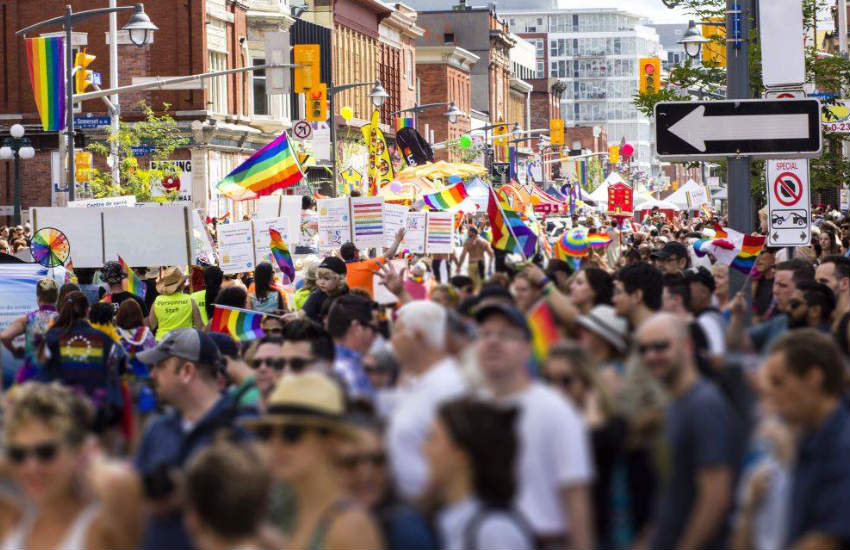 Marchers at Ottawa Capital Pride.