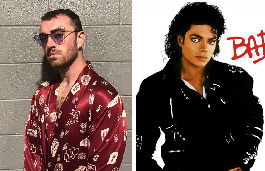Sam Smith Instagram pic and cover of Michael Jackson's Bad