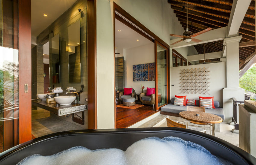 The veranda of a D-Bok room at The Slate in Phuket, Thailand
