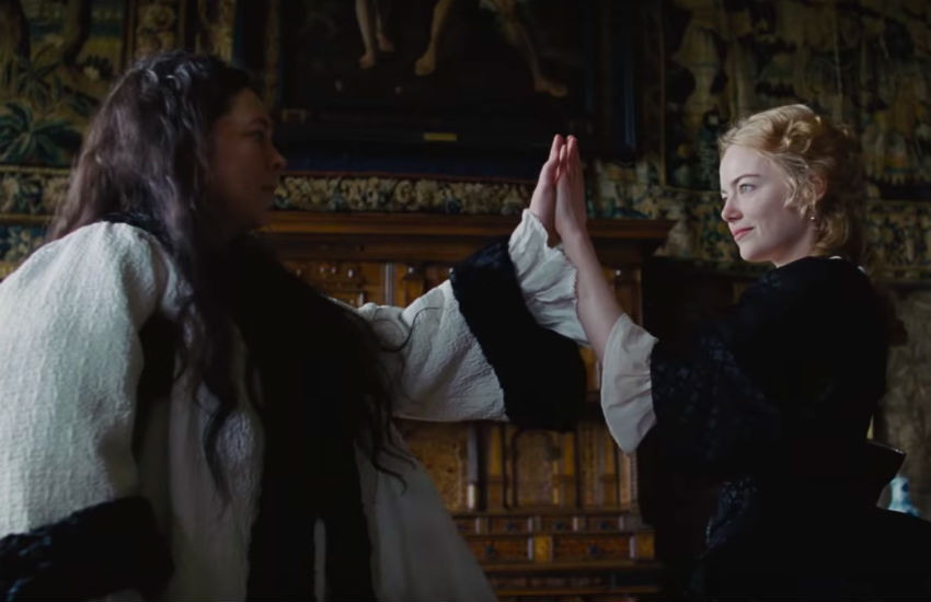 Olivia Colman and Emma Stone in The Favourite Dorian Awards