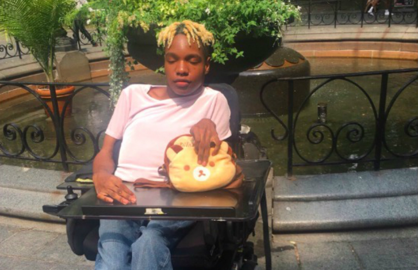Black, trans, and disabled model Aaron Philip recently signed with Elite NYC