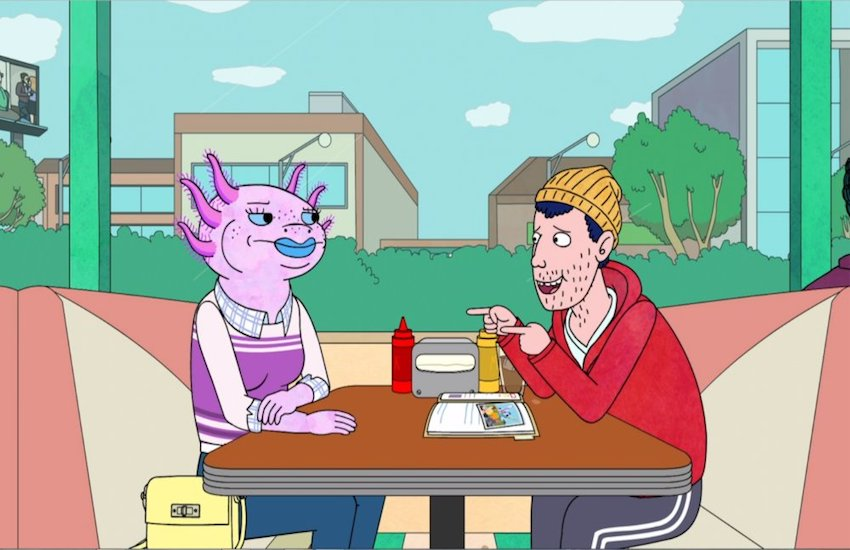 Yolanda and Todd, two asexual characters on the Netflix show BoJack Horseman