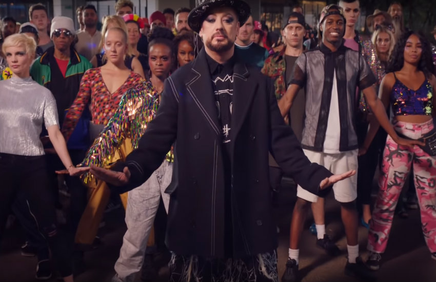 Boy George in the music video