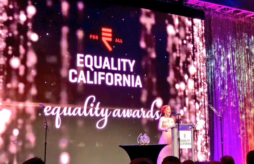 Comedian Kathy Griffin at the Equality California awards night (Photo: Twitter)
