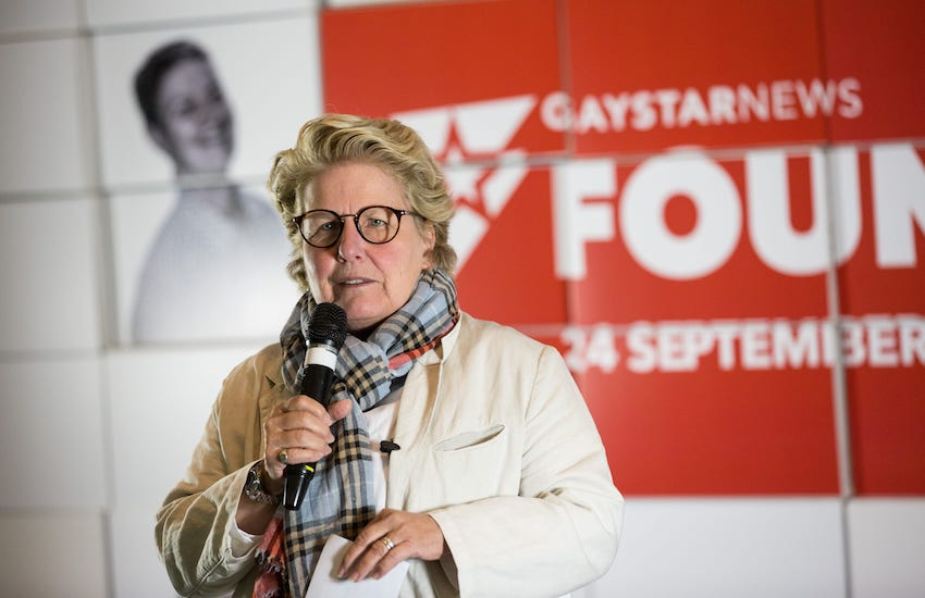 sandi toksvig great british bake off on stage LGBTI Founders Day Gay Star News
