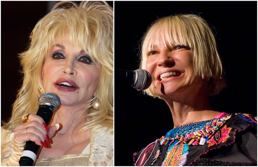 Dolly Parton (left) and Sia recorded a rendition of Here I Am for a Netflix movie soundtrack