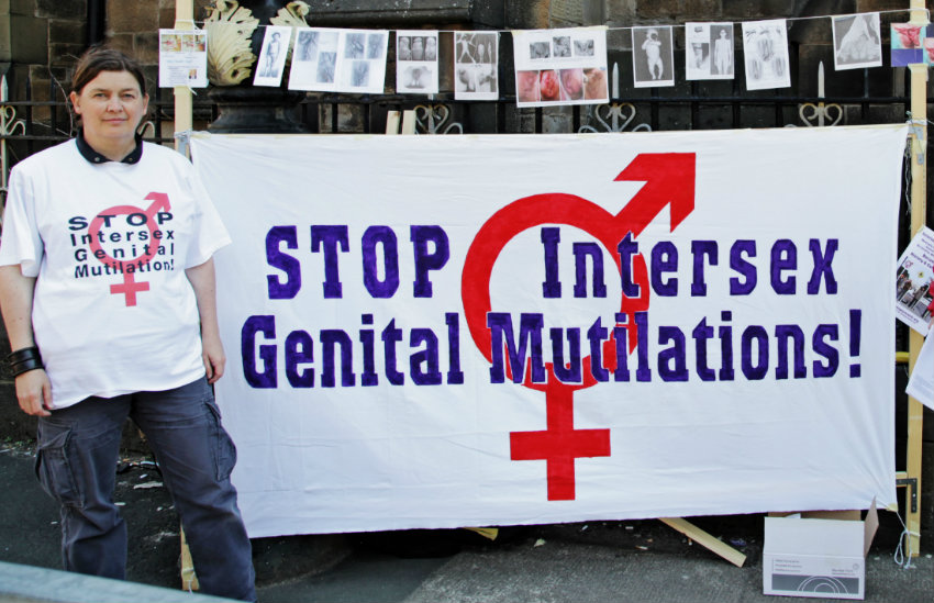 Protesting intersex surgeries