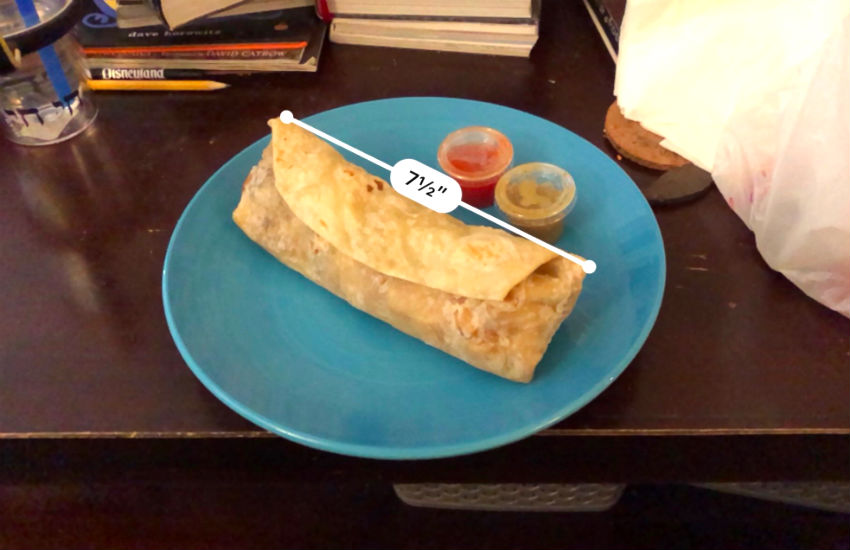 Apple is allowing you to measure anything - even a big and thick breakfast burrito | Twitter