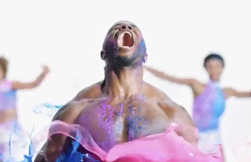 Man covered in paint in the Sexy new trailer for The Bi Life