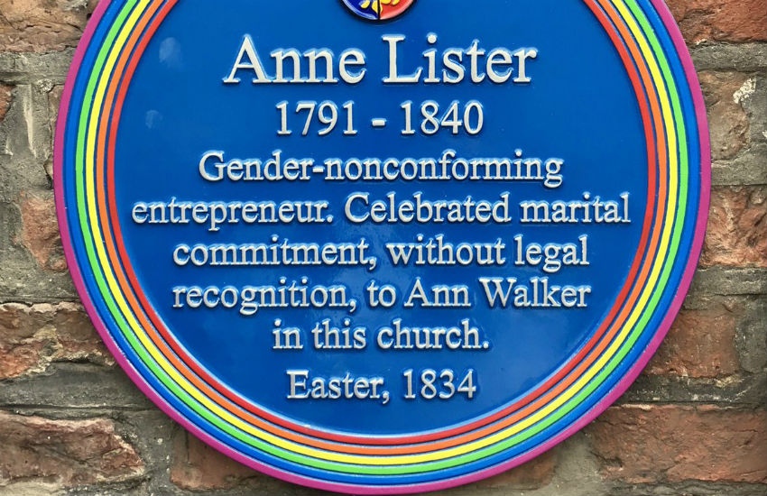 The plaque to Anne Lister was unveiled in July