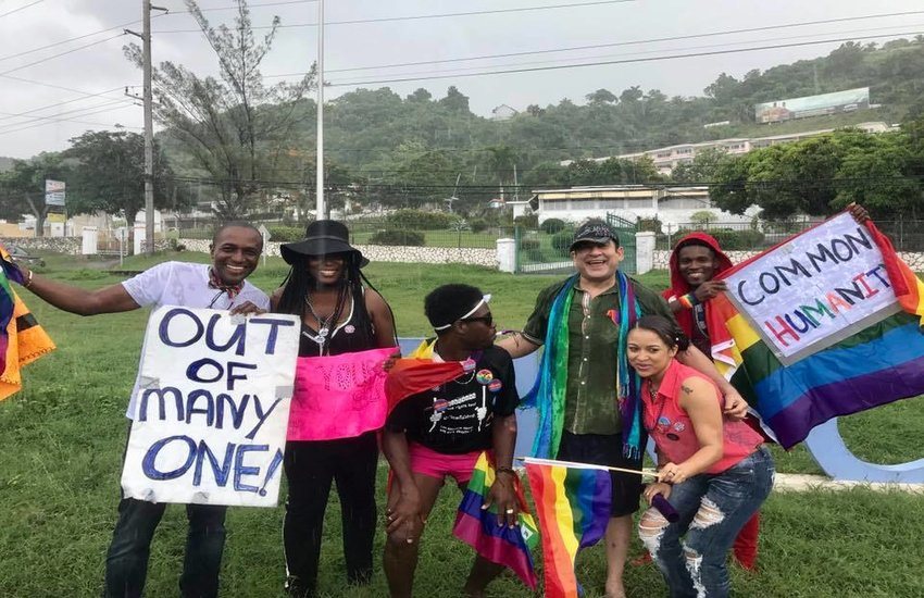 Marchers at Montego Bay Pride in 2016.