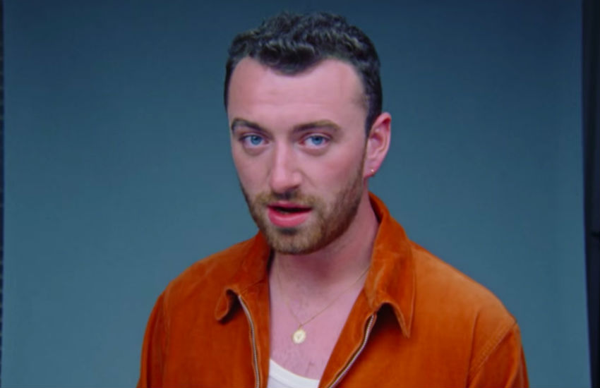 Sam Smith in the video for new track, Promises