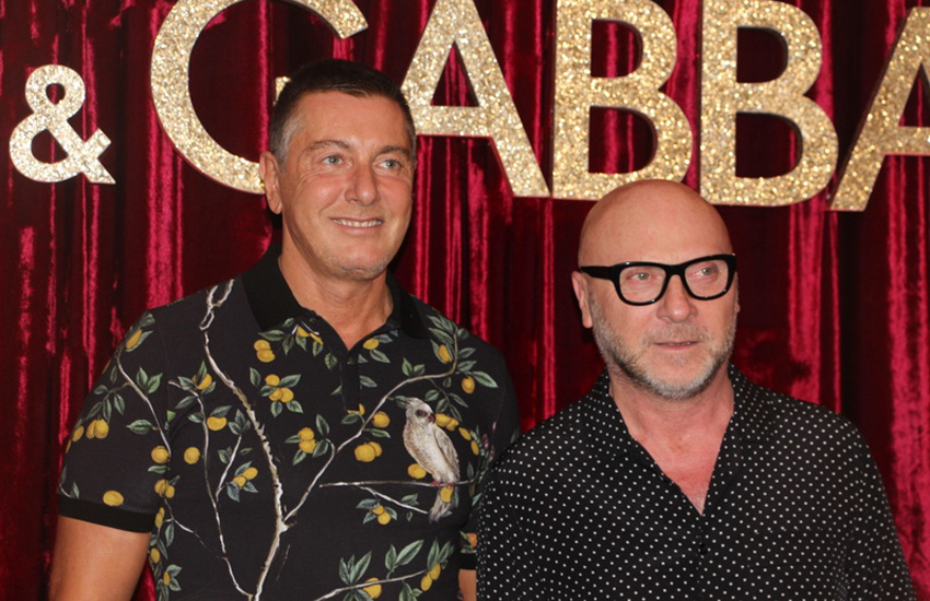 Stefano Gabbana with fashion partner Domenico Dolce