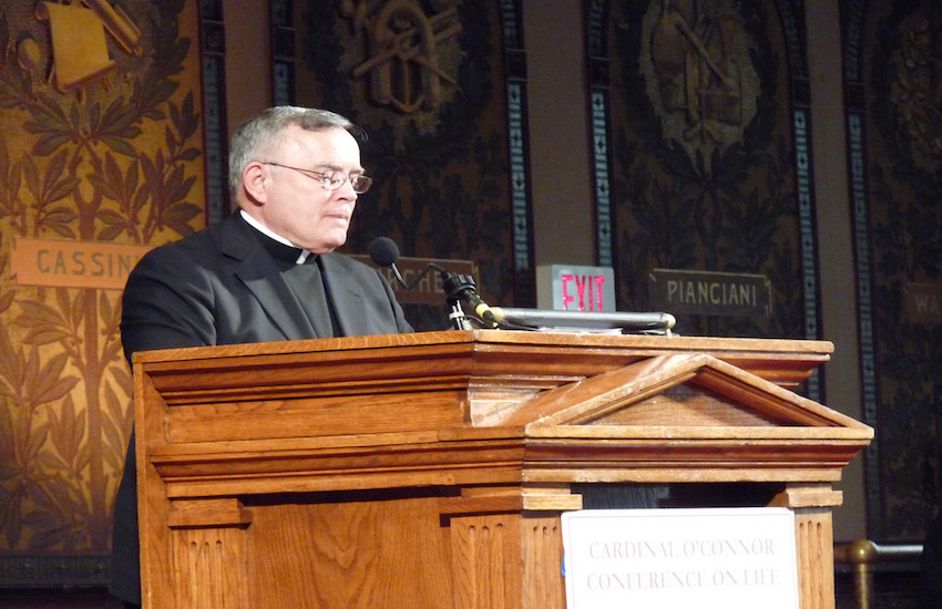 Archbishop Charles Chaput addressing the March for Life in 2012