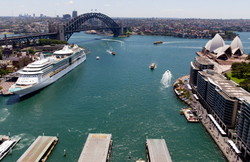 Royal Caribbean cruise ship in Sydney
