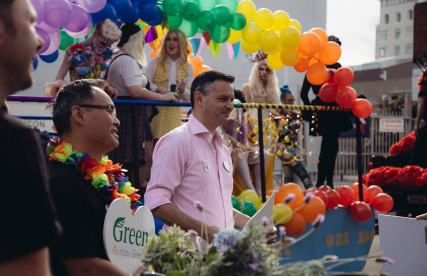 Acting health minister James Shaw (in pink) announced the measures (Photo: Facebook)
