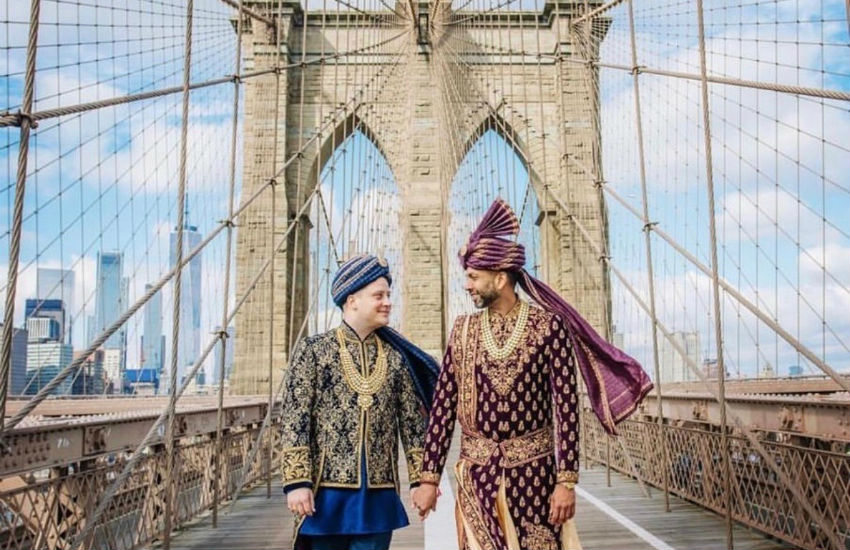 Martin and Amit got married in New York City | Supplied