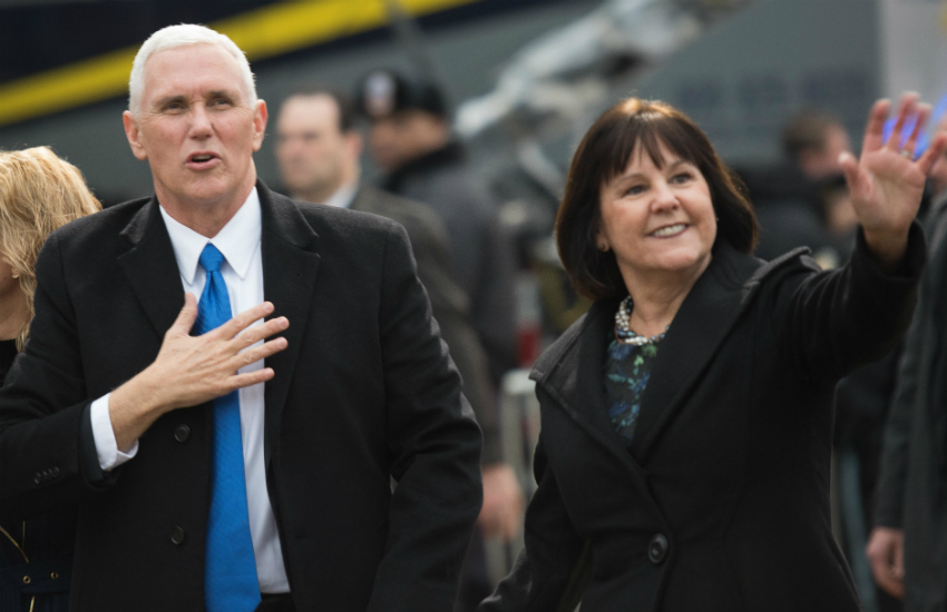 Mike Pence and Karen Pence homophobic candidate North Carolina